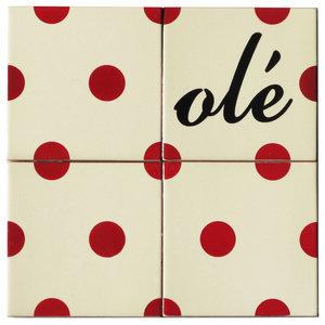 Olé Ceramic Tile Mural, 4 Tiles
