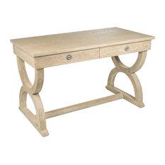 BELSSIA - Hamilton Brown Oak Desk - Desks & Writing Bureaus