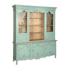 Turquoise 3 door French Dresser
