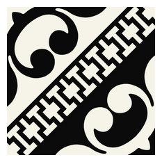 "Encaustic Design Black & White 8""x8"", Set of 29"
