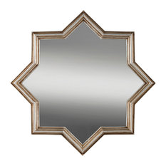 Aufora - Alexandra Star Wall Hanging Mirror, 44x44 cm - Wall Mirrors