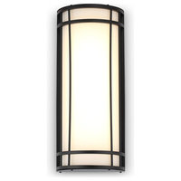 Diana Modern Matte Black LED Outdoor Wall Light