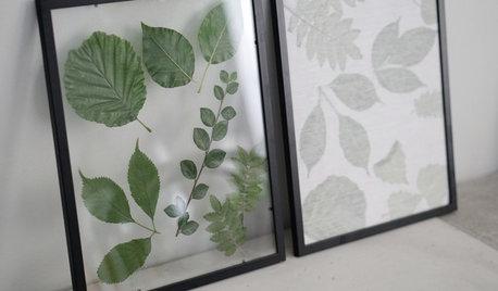 Gör det själv: Två grönskande tavlor med olika känsla och bakgrund