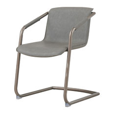 Indy PU Leather Side Chairs Set of 2 Antique Graphite Gray by New Pacific Direct Inc.