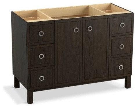 "Jacquard(TM) 48"" vanity with furniture legs, 2 doors and 6 drawers - Bathroom Vanities And Sink Consoles"