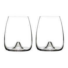 Waterford Elegance Stemless Wine Glass  Pair - Waterford Elegance Stemless Wine Glasses, Set of 2 -