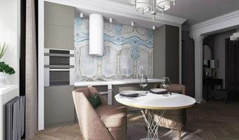 Гостиная в 2х-уровневой квартире(Ярославль)