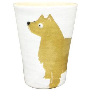 Light Brown Animal Cups, Australian Terrier, Set of 2