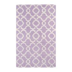 "Kaleen Hand Tufted Revolution Lilac Wool Rug, 5'x7'9"""