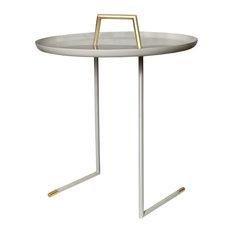 Ollam Grey Powder Coated End Table