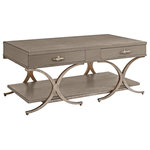Sadie Coastal Beach Two Drawer Cocktail Table