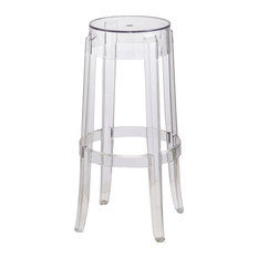 Fine Mod Imports - Clear Barstool Clear - Bar Stools and Counter Stools  sc 1 st  Houzz & Clear Plastic Bar Stools | Houzz islam-shia.org