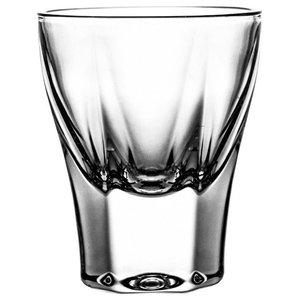 Hexagonal Lead Crystal Vodka Glasses, Set of 6
