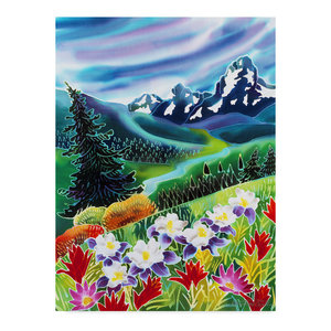 "Harriet Peck Taylor 'High Country Floral' Canvas Art, 24""x18"""