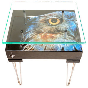 Electric Owl Side Table, Right Facing