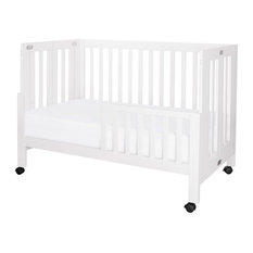 Babyletto Maki Full Portable Crib with Toddler Bed Conversion Kit in White
