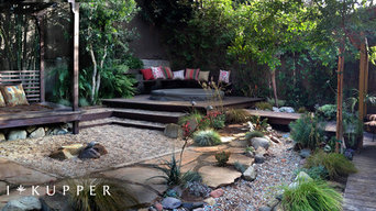 Panorama View of Spa, Dry Stream, Meditation Hut, and Sunken Fire Pit