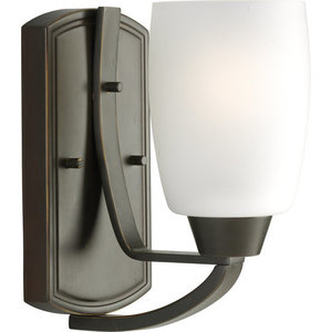 Progress Lighting P2794-20 Wisten Single-Light Bathroom Sconce with Etched Glass