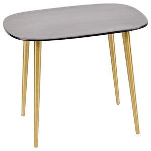 Enamel and Aluminium Side Table, Black