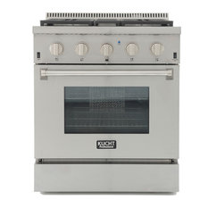 """KUCHT Pro Style 30"""" Stainless Steel Range With Convection Oven, Classic Silver,"""