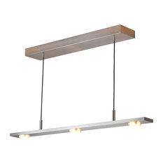 Brevis 28 LED Linear Pendant, Brushed Aluminum