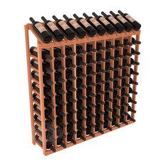 Wine Racks America 100-Bottle Display Top Wine Rack, Redwood, Unstained