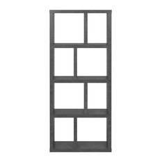 Berlin 4 Levels Bookcase, 70 cm., Concrete Look