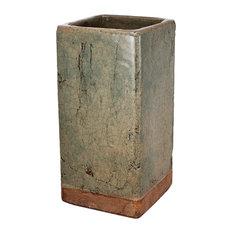 """Ever Square Vase Slate Gray 6.5""""x13"""""""