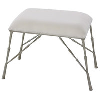 Spike Bench With Muslin Cushion, Antique Nickel