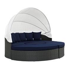 Sojourn Outdoor Patio Sunbrella Daybed, 4-Piece Set