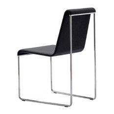 Slender Chair, White Leatherette