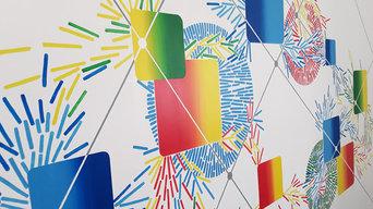 Peinture murale, les formes connectées