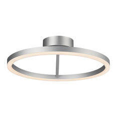 "Zuben Circular LED Ceiling Light, Silver, 20"""