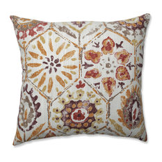 """Pillow Perfect Indoor Antique Stone Spice Purple 18"""" Throw Pillow"""