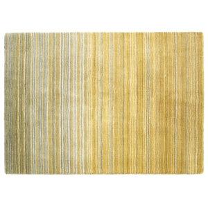 Fine Stripe Ochre Yellow Rectangular Rug, 160x230 cm