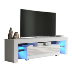 White High Gloss Entertainment Centers Tv Stands Houzz