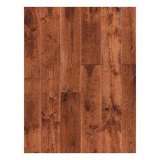 "5.91""x82.68"" Engineered Hardwood Flooring-European Oak, Set of 8, Caramel"