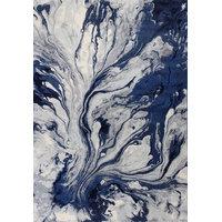 "Illusions 6201 Blue Watercolors Rug, 5'3""x7'7"""