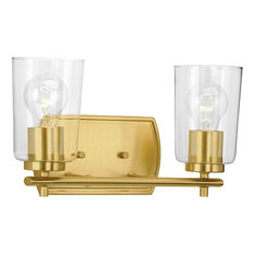 Adley Collection 2-Light Bath and Vanity, Satin Brass