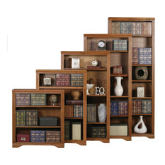 72-inch Oak Ridge Open Bookcase Smokey Blue Oak