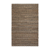 Paragon Diamond Rug, Tan and Black, 5'x8'