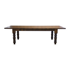 Baluster Table With Extension Expandable Dining Table Harvest Wheat Finish 8'
