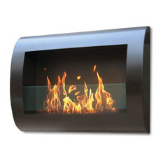 Chelsea Wall Mounted Bio-ethanol Fireplace (Black)