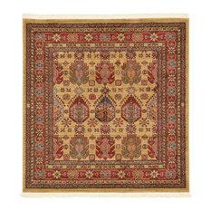 Unique Loom Beige Balash Sahand 4' 0 x 4' 0 Square Rug