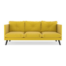 Keegan Sofa Oxford Weave Daffodil