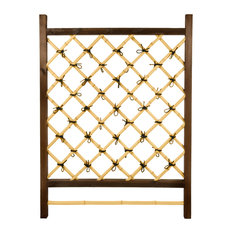 Japanese Garden Style Wood and Bamboo Trellis