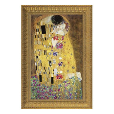 The Kiss, 1907: Canvas Replica Framed Painting, Small