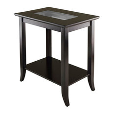 Winsome Wood Transitional Composite Wood And Glass Side Table