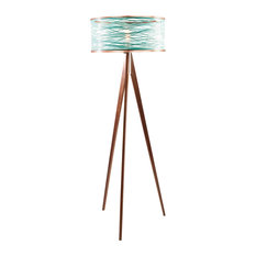 Shop top rated turquoise floor lamps houzz papay designs sinuous floor lamp teal floor lamps mozeypictures Image collections