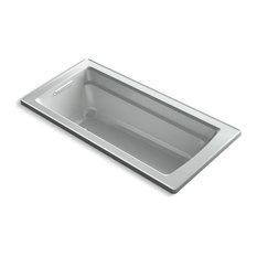 "Archer 66""x32"" Drop-In Bath Reversible Drain, Ice Gray"